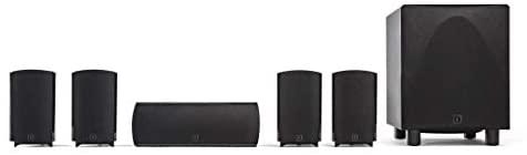 Definitive Technology ProCinema 6D - Compact 5.1 Channel Home Theater Speaker System (2019 Model) | 250-Watt Powered Subwoofer, Center Channel + 4 Speakers | Sleek, Modern Looks Match Any Décor, Black