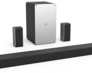 """VIZIO SB3651-F6 36"""" 5.1 Channel Home Theater Surround Sound Bar with Bluetooth– Dolby Audio, DTS Virtual:X, Wireless Subwoofer, Works with Google Assistant, Wi-Fi, HDMI ARC, Optical, Display Remote"""