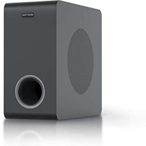 Powered Subwoofer, BESTISAN Deep Bass Home Audio Subwoofer, Wired and Wireless Compact Subwoofer for Home Theater/TV/Speakers/Computer/Phone, Bluetooth 5.0/Optical/RCA, Built-in Amplifier 6.5'' Sub