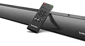 BOMAKER Sound Bars for TV, 9 EQ Modes Soundbar with 10 Adjustable Deep Bass, CEC Remote, 100W 3D Surround Sound System