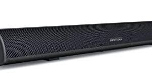 80Watt 34Inch Sound bar, Bestisan Soundbar Bluetooth 5.0 Wireless and Wired Home Theater Speaker (DSP, Bass Adjustable, Optical Cable Included, Worry-Free 90-Day Trial, 2019 Upgraded)
