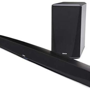 Denon DHT-S516H Home Theater Slim Soundbar System with Wireless Subwoofer   Bluetooth & HEOS   Amazon Alexa Compatibility   Quick Setup - All Cables Included   Wall-Mountable   Black