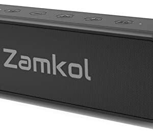 Zamkol Portable Bluetooth Speaker, Wireless Outdoor Speakers with 20W Stereo Sound, 24-Hour Playtime, EQ, IPX7 Waterproof
