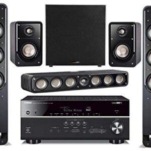 Yamaha 7.2-Channel Wireless Bluetooth 4K 3D A/V Surround Sound Receiver + Polk Multimedia Home Theater Speaker System
