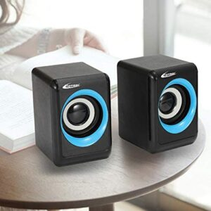 axGear Portable Speaker USB Multimedia Powered Wired Mini Surround Subwoofer Output
