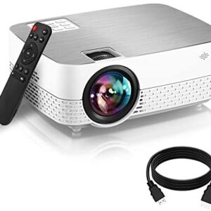 Movie Projector,6500 Lumens 1080P Supported HiFi Speaker for Home Theater Projector, 60,000 Hours LED lamp Life Outdoor Video Projector Compatible with/TV/Stick/Switch/Laptop/PS5/TF/USB/HDMI