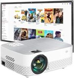 Yefound Projector Movie Projector Mini Projector with Screen Included Full HD 1280x720P Home Theater Projector,1080P Supported Compatible with for HDMI/USB/TV Stick/PS4/PC/TF