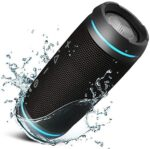 TREBLAB HD77 - Ultra Premium Bluetooth Speaker - Loud 360° HD Surround Sound, Wireless Dual Pairing, 25W Stereo, Loud Bass,