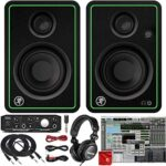 Mackie CR3-X 3-Inch Creative Reference Multimedia Monitors Bundle with Mackie Onyx Artist 1-2 USB Audio Interface, Pro Tools DAW Software, TH-02 Closed Back Headphones, 2x 10-Foot TRS Cable