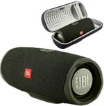 JBL Charge 4 Waterproof Wireless Bluetooth Speaker Bundle with Boomph Portable Hard Protective Carrying Case - Green